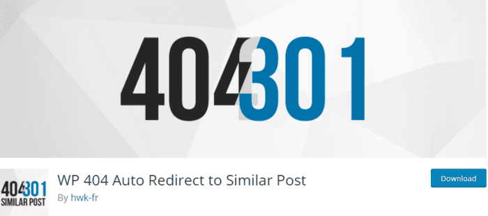 WP 404 Auto Redirect to Similar Post