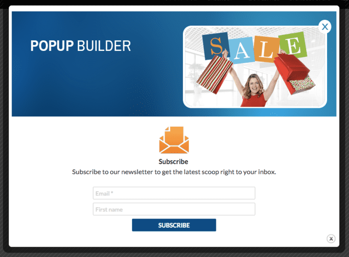 Popup Builder design